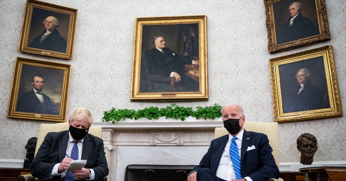 Joe Biden i-a dat de înțeles lui Boris Johnson că șansele pentru un acord comercial SUA-UK post-Brexit... - Digi24