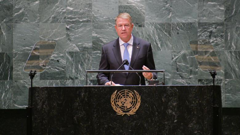 klaus iohannis tine un discurs la ONU
