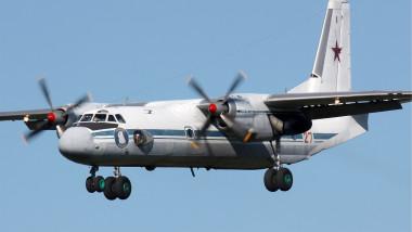 Avion AN-26 al Forțelor Aeriene ruse.