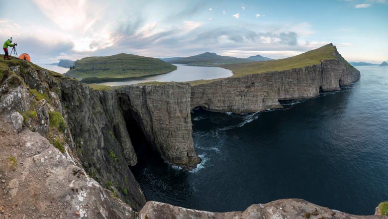 Lacul Sørvágsvatn din insulele feroe