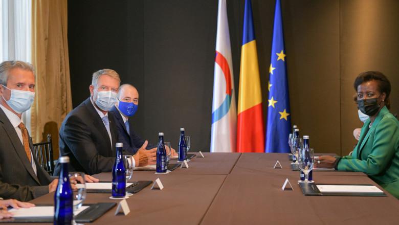 Întâlnirea Președintelui României, Klaus Iohannis, cu Secretarul General al Organizaţiei Internaționale a Francofoniei, Louise Mushikiwabo.
