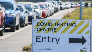 Centru de testare COVID-19 în Noua Zeelandă.