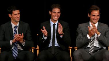 Djokovic, Nadal și Federer aplaudă.