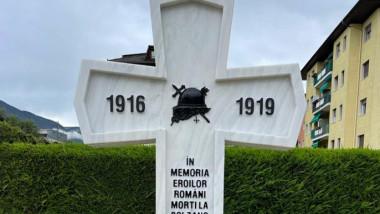 Monument dedicat eoilor români căzuți la Bolzano, Italia, în Primul Război Mondial.