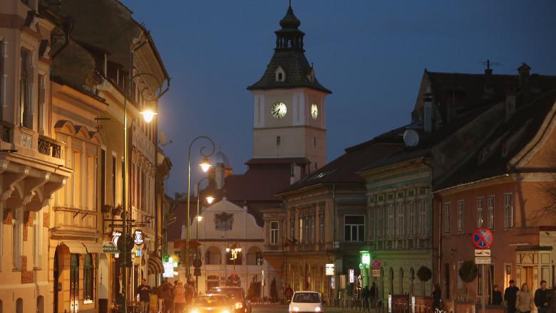 strada din centrul brasovului