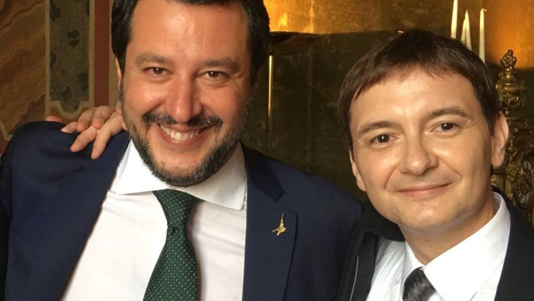 Matteo Salvini și Luca Morisi