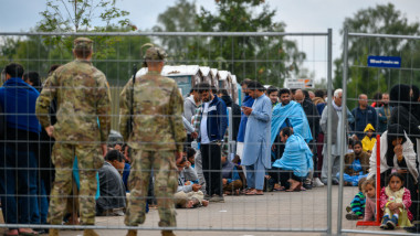 U.S. Military Base Temporarily Houses Afghan Refugees