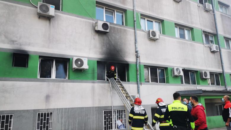 incendiu la spital in constanta