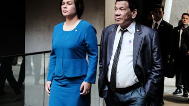Rodrigo Duterte și fiica sa