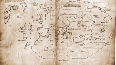 hartă pe pergament vechi