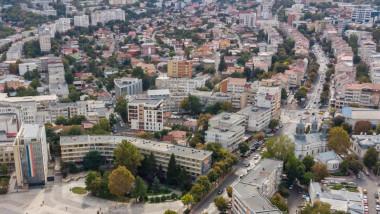 Vedere panoramică a municpiului Tulcea.