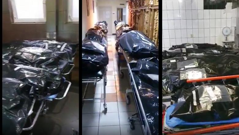 cadavre in saci la spital morga