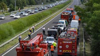Accident rutier în Ungaria, imagine de arhivă.