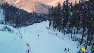 partie de schi la slanic moldova