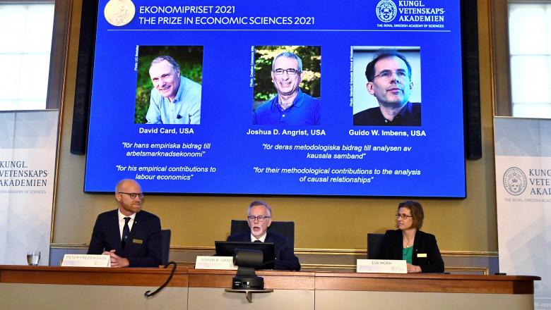 Laureaţii din acest an ai premiului Nobel pentru Economie.