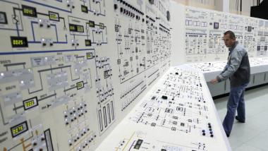 Panoul de control al unei centrale nucleare.
