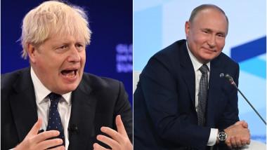 Colaj foto Putin și Boris Johnson