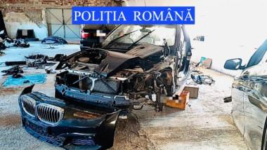 Mașină de lux furată din Marea Britanie, găsită la o firmă din județul Neamț.