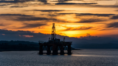 Oil Rigs in the Cromarty Firth, Ross Shire, Scotland, United Kingdom