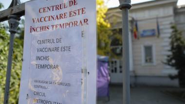 centrul de vaccinare neghinita inchis temporar
