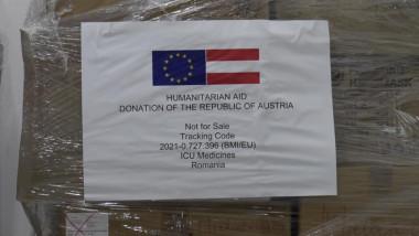 Medicamente donate României de Austria.