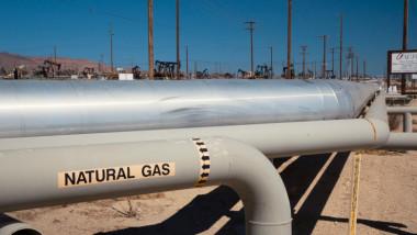 Conductă prin care sunt transportate gaze naturale.