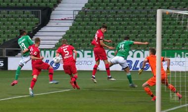 Theodor Gebre Selassie a marcat pentru Werder în meciul cu Leverkusen / Foto: Captură Digi Sport