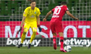 Kerem Demirbay a marcat pentru 1-4 în Werder Bremen - Bayer Leverkusen / Foto: Captură Digi Sport