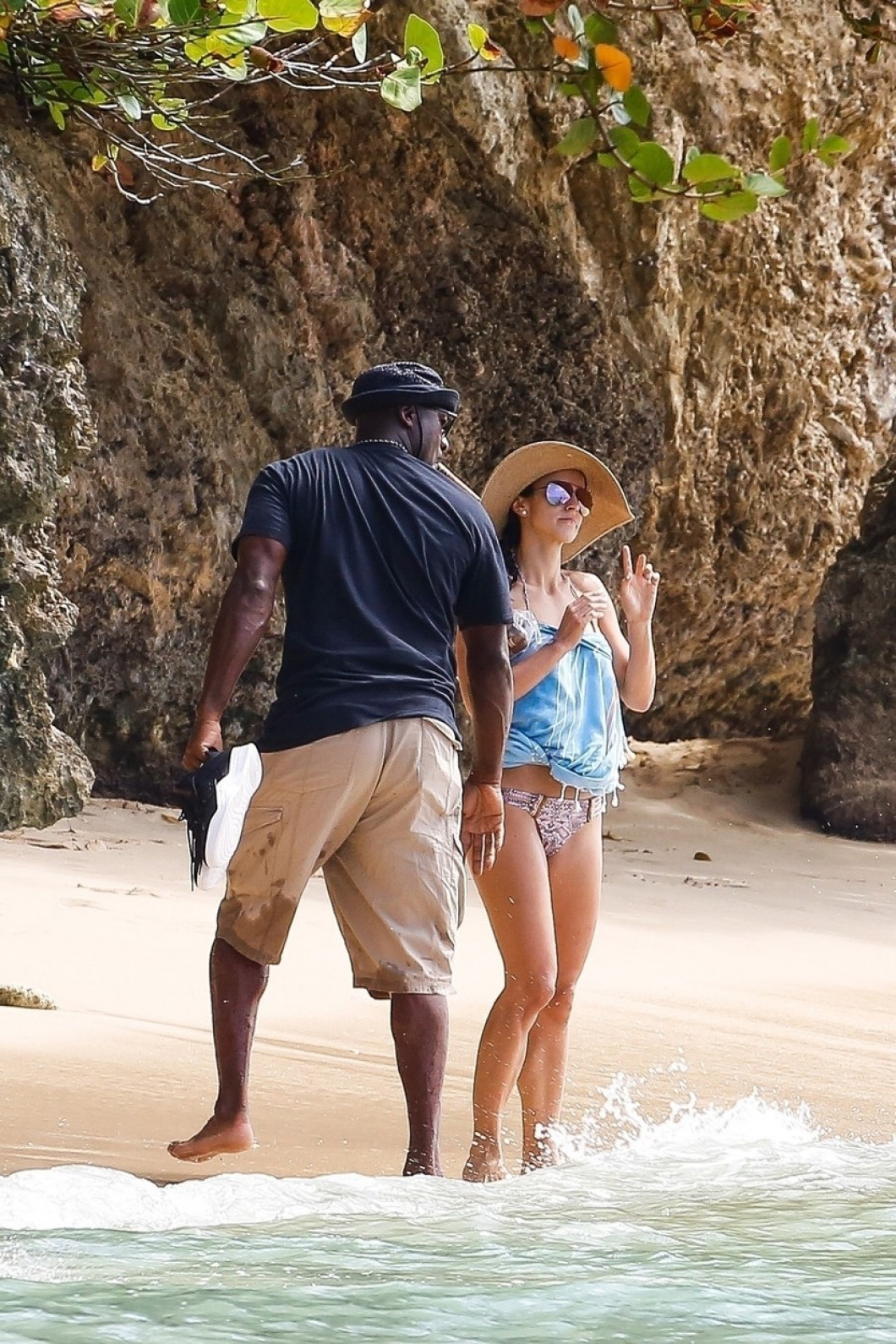 *EXCLUSIVE* Michael Jordan and wife Yvette Prieto holiday in Barbados **WEB MUST CALL FOR PRICING**