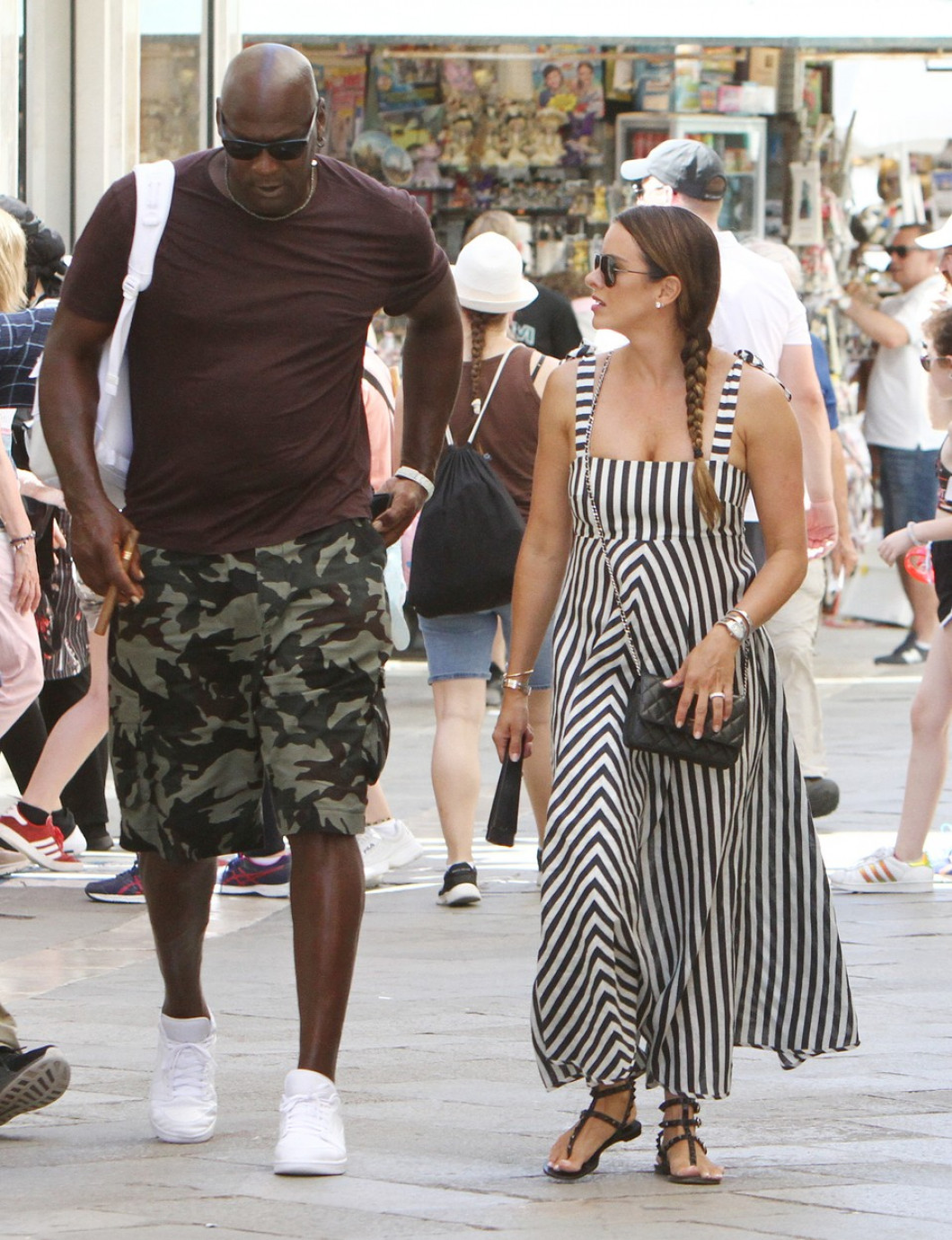 Michael Jordan and wife Yvette Prieto make a romantic taxi boat ride in Venice