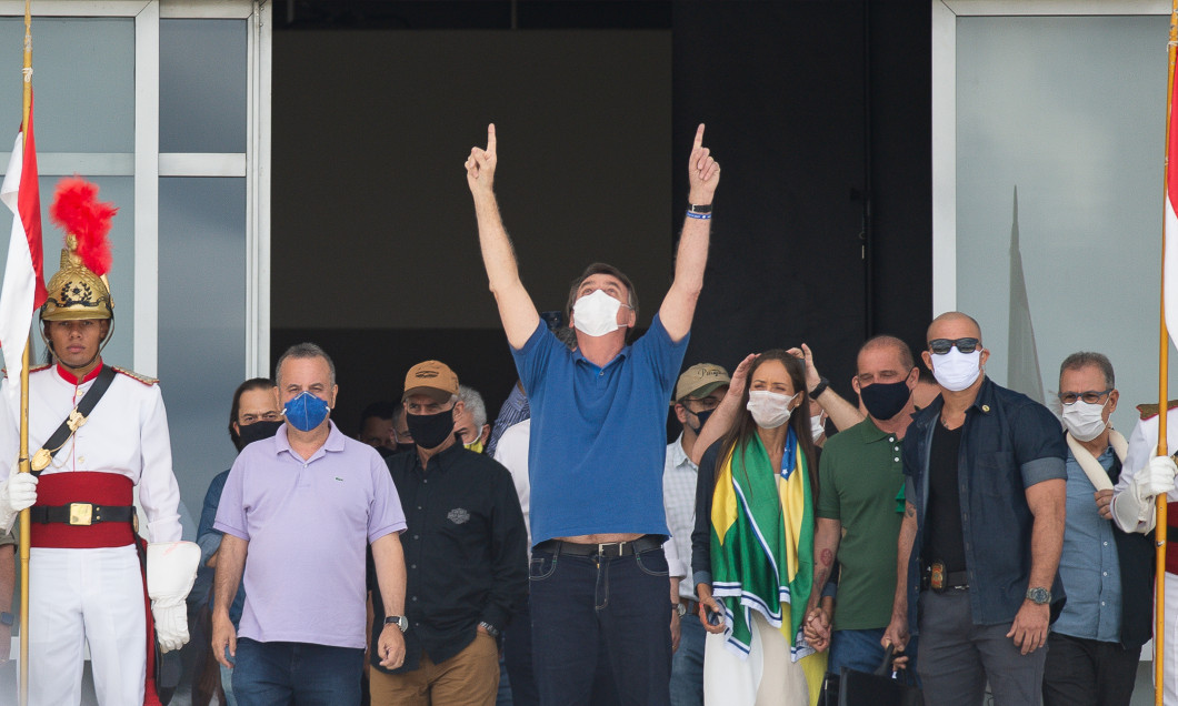 Motorcades in Support of Bolsonaro at the Esplanade of the Ministries Amidst the Coronavirus (COVID - 19) Pandemic