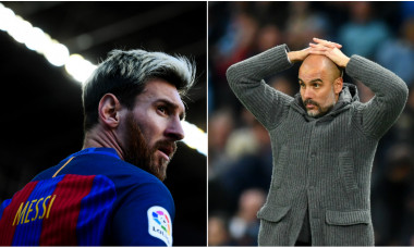 Leo Messi și Pep Guardiola