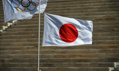 Olympic Flame Handover Ceremony For Tokyo 2020 Summer Olympics