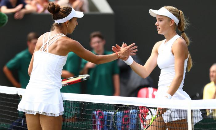 Katie Swan, după meciul pierdut în fața Mihaelei Buzărnescu la Wimbledon / Foto: Getty Images