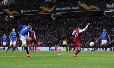 """Ianis Hagi a reușit o """"dublă"""" în meciul cu Braga din Europa League / Foto: Getty Images"""
