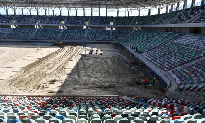 LUCRARI DE CONSTRUCTIE LA STADIONUL GHENCEA DIN BUCURESTI (28.04.2020)