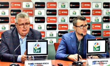 Justin Ștefan, secretarul general al LPF, alături de președintele Gino Iorgulescu / Foto: Sport Pictures