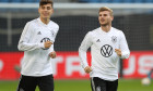 Kai Havertz, alături de Timo Werner la un antrenament al naționalei Germaniei / Foto: Getty Images
