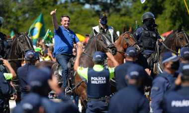 Bolsonaro Attends Manifestation With His Supporters in Front of Palacio do Planalto Amidst the Coronavirus (COVID - 19) Pandemic