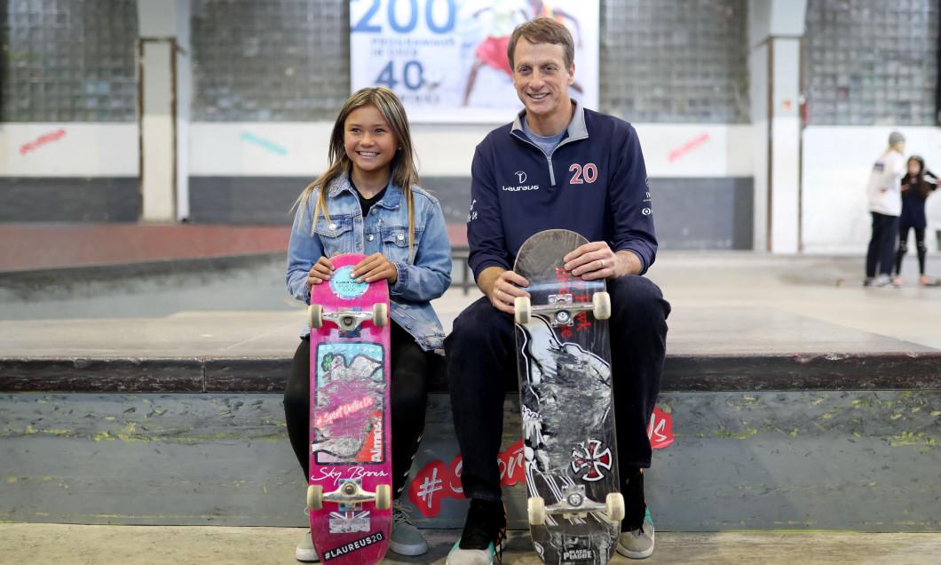 Laureus Sport for Good Skateboard Visit - 2020 Laureus World Sports Awards - Berlin