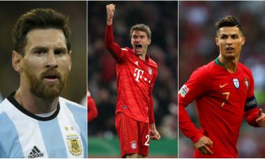 Leo Messi, Thomas Muller și Cristiano Ronaldo