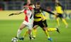 Nicolae Stanciu, în duel cu Thorgan Hazard, în Borussia Dortmund - Slavia Praga / Foto: Getty Images