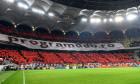 """""""Peluza Cătălin Hîldan"""", la derby-ul cu FCSB / Foto: Sport Pictures"""