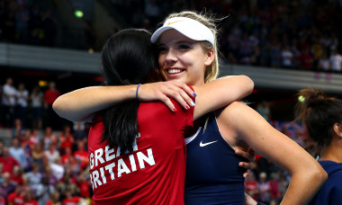 Great Britain v Kazakhstan - Fed Cup: Day 2