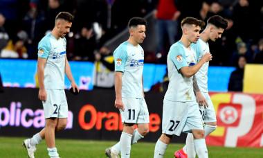 Jucătorii de la FCSB, după înfrângerea cu CFR Cluj din februarie / Foto: Sport Pictures