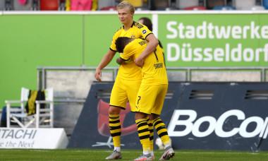 Erling Haaland a adus victoria Borussiei Dortmund în meciul cu Dusseldorf / Foto: Getty Images