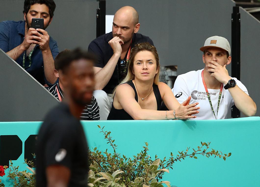 Elina Svitolina, în loja lui Gael Monfils la Madrid Open / Foto: Getty Images