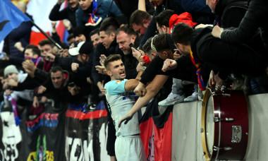 Florin Tănase, sărbătorind alături de suporteri golul marcat în meciul cu Dinamo / Foto: Sport Pictures