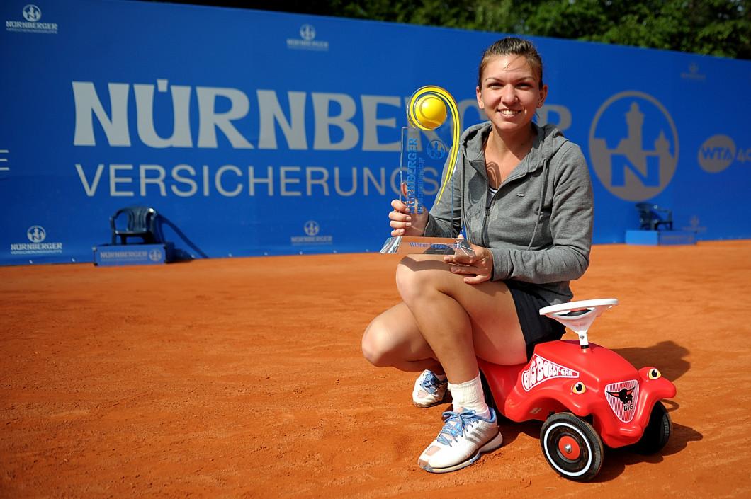 Simona Halep a câștigat la Nurnberg, în 2013, primul trofeu WTA din carieră / Foto: Getty Images