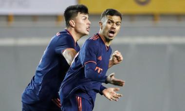 Flavius Dăniliuc (stânga) și Oliver Batista Meier, componenți ai echipei U19 de la Bayern Munchen / Foto: Getty Images